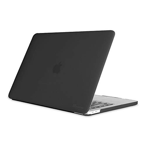 Fintie Case for MacBook Pro 13 (2019 2018 2017 2016 Release) - Protective Snap On Hard Shell Cover for MacBook Pro 13 Inch A2159 A1989 A1706 A1708 with/Without Touch Bar and Touch ID, Frost Black