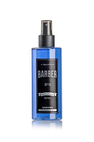 Marmara Barber Cologne-Pumpspray 250ml (N.2) blau |Aftershave Herren | Barbershop Spray Cologne | Duftwasser herren | frischer blumiger Herrenduft | Eau de Cologne | 70° Alkohol | Friseur Kolonya