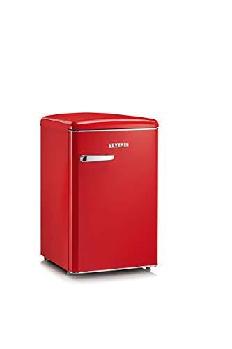 SEVERIN Retro-Tischkühlschrank, 106 L, Energieeffizienzklasse A+++, RKS 8830, retrorot