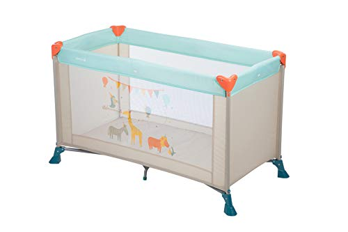 Safety 1st Soft Dreams Lit Parapluie Bébé De Voyage, Pratique et Compact Happy Day