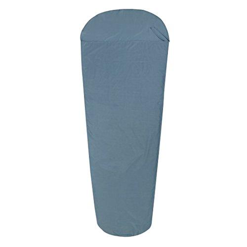 10T Schlafsack BW INLET MB Hüttenschlafsack 225x90 cm Mumienschlafsack Inlay 100% Baumwolle Blau