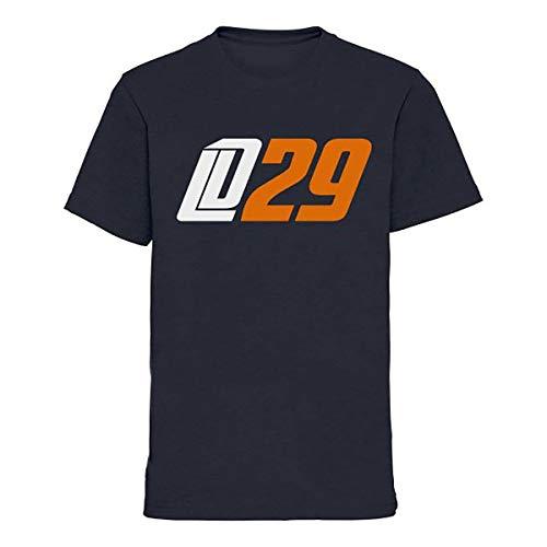 Scallywag – Camiseta de hockey sobre hielo infantil Leon Draisaitl LD29 I Tallas S – XL I A BRAYCE Colaboración (colección oficial LD29 de NHL Edmonton Oilers Star), azul, XL (152)