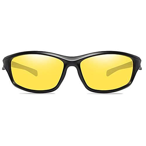 DKee Gafas de sol polarizadas a prueba de arena, para deportes al aire libre, protección UV, UV400, para hombres y mujeres con el mismo párrafo (color: amarillo)
