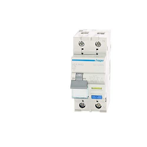 Hager HAGADS966D FI-/LS-Schalter, 16 A 1P und N C, 0,03 m