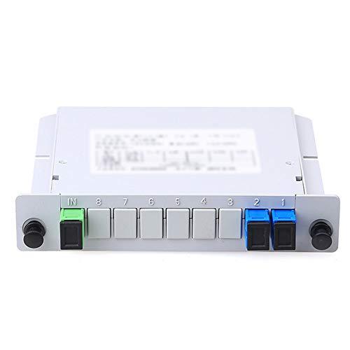 Adaptador de fibra óptica Inserción de fibra óptica Tipo de hoja Splitter Caja 1 a 2 Plano óptico Guía de onda Splitter Alicates de corte blanco