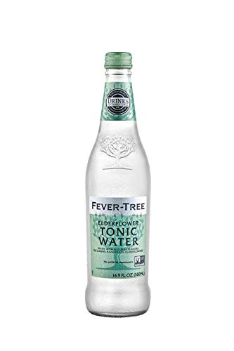 Fever-Tree Elderflower Tonic Water Glass Bottles, No Artificial Sweeteners, Flavorings & Preservatives, 16.9 Fl Oz (Pack of 8)