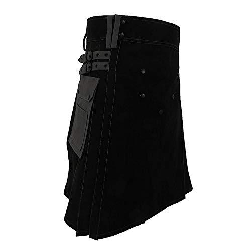 Mooie kilt rock gothic punk Scottish kilt kostuum tassen heren rok mode riem rooster vlecht bilaterale zakketting