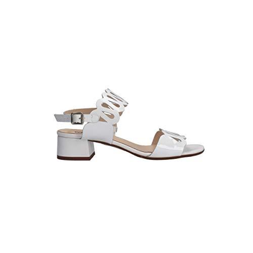 Melluso Sandali Donna con Tacco K35104L Pelle Vernice Bianco (Numeric_39)