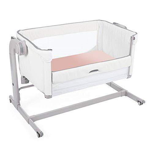 Giovanni Dolcinotti Baby Collection | Set de 2 Draps-housses pour Berceau Compatibles Chicco Next2Me 50 x 83 cm - 100% Coton, Fabriqué en Italie, Blanc/Rose