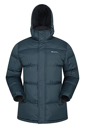 Mountain Warehouse Chaqueta de Nieve para Hombre - Impermeable, con Capucha, puños y Dobladillo Ajustables - Ideal para Viajes en Invierno Azul Marino XS