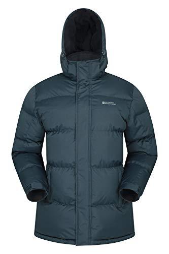 Mountain Warehouse Chaqueta de Nieve para Hombre - Impermeable, con Capucha, puños y Dobladillo Ajustables - Ideal para Viajes en Invierno Azul Marino S