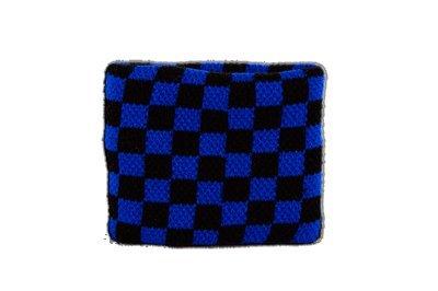 Sudor banda de cuadros azul negro + Gratis adhesivo, Flaggenfritze–Bandera