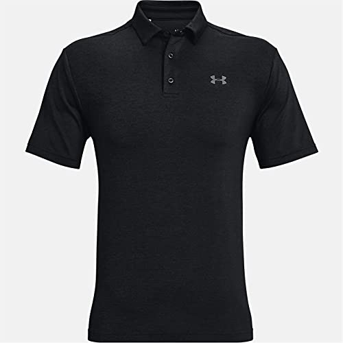 Under Armour Playoff 2.0, atmungsaktives Sportshirt, komfortables und kurzärmliges Funktionsshirt mit loser Passform Herren, Black / Black / Pitch Gray , L