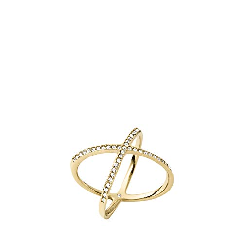 Michael Kors Pave X Gold Ring, Size 7
