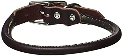 "Coastal Pet Products Circle T Leather Round Dog Collar, 3/4"" x 18"", Latigo"