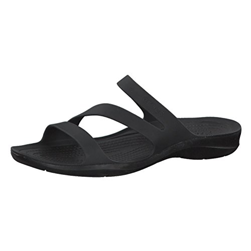 Crocs Swiftwater Sandal Women, Chanclas para Mujer, Negro (Black/Black), 39/40 EU