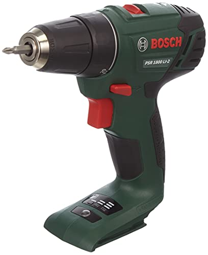 Bosch 06039A310J PSR 1800 LI-2 Cordless Two-Speed Drill/Driver (Without Battery and Charger), Green, 18.9 cm*17.0 cm*3.3 cm