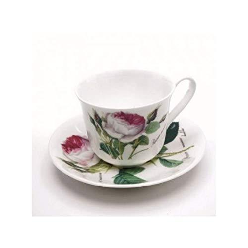 Roy Kirkham Redoute Rose Breakfast Tasse und Untertasse