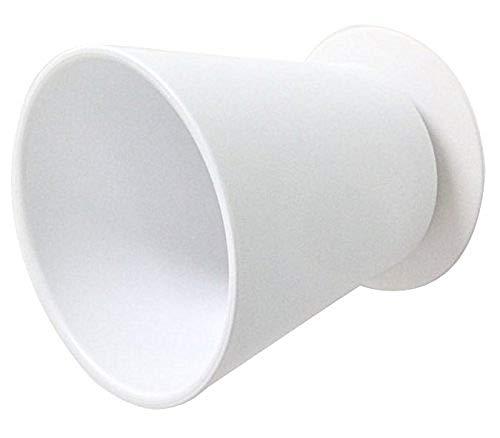 SANEI 歯磨きコップ マグネットコップ 吸盤式 壁にくっつける 浮かす収納 衛生的 ホワイト PW6810-W4