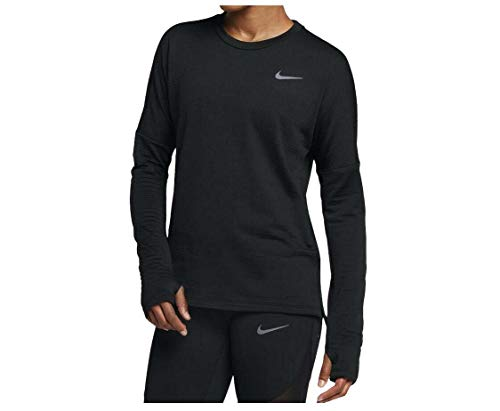 Nike Women s Therma Sphere Element Running Top (Small, Black)