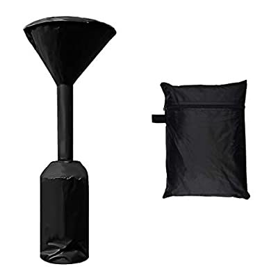 LDPF Patio Heater Covers Waterproof with Zipper Black,24 Months of use (1pc,210D,H95 XD24 X18.5)
