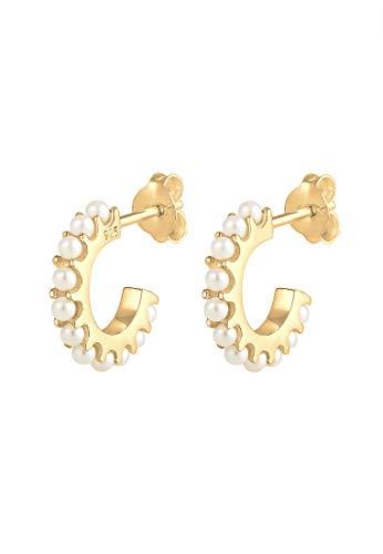 Elli Ohrringe Damen Creolen Elegant mit Swarovski® Kristallen aus 925 Sterling Silber