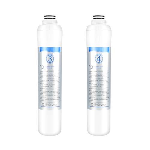 KFLOW Wasserfilterwechsel, 3. & 4. Stufe - Umkehrosmosemembran (R.O.-Membran) Aufsatzwasserfilter for KFL-DT-180