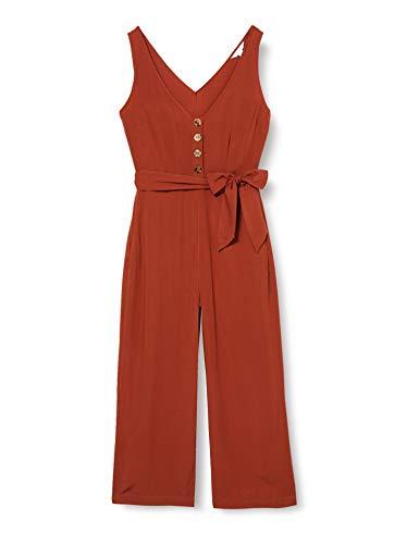 Springfield Liso Rustic Vis-C/33 Mono Largo de Lino para Mujer, Rojo (Burgundy 33), 34 (Tamaño del fabricante: 34)