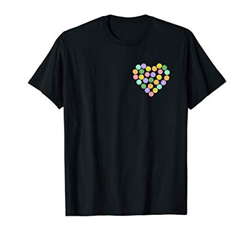 MDMA Pillen Herz auf Brust - Molly, Ecstasy, XTC, Rave T-Shirt