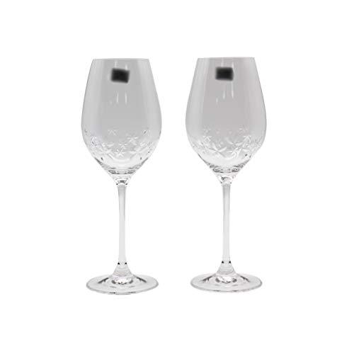 ZRJ Copas de vino tinto irrompibles transparentes copas de vino fino juego de 2 copas de regalo para fiesta de cumpleaños de 360 ml (color: transparente)