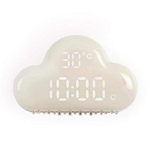 Sinzong wandklok, wolken, elektronisch, LED, creatief, studenten, kinderen, tafel, nachtkastje, wekker, verlicht