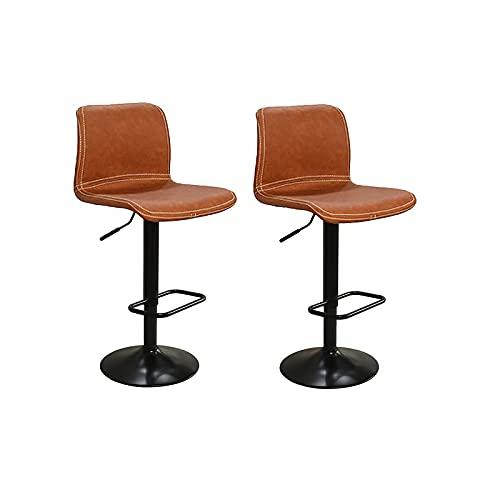 Bancos de Bar Taburetes de barras de vestuario Taburete giratorio Altura Sillas de barras ajustables con sillas de restaurantes Barra...