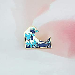 WEHONG Cartoon Tree House Icebirg Wave Bird Elefante Motocicleta Icono Broche Chaqueta De Mezclilla Insignia Pin Joyer¨ªa ...