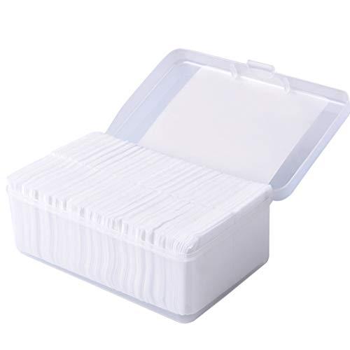 DUOER HOME Gesichtsmake-up Entferner 1000 Stücke Wattepads Make-Up Watte Tücher Weiche Make-Up Entferner Pads Gesichtsreinigung Papier Wischen Hautpflege Entferner (Color : White)