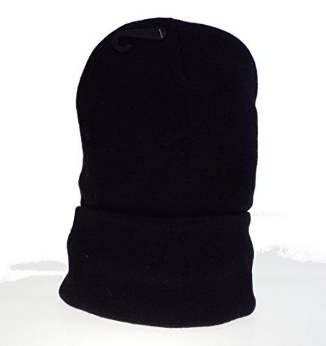 Générique 1 Bonnet Noir Mixte Homme, Femme, Adolescent, Taille Unique, doublé Polaire.
