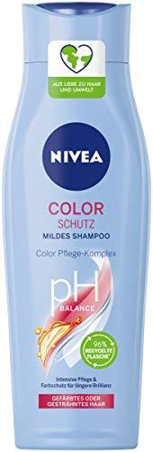 NIVEA Color Schutz Mildes Shampoo (250 ml), sanftes Pflegeshampoo mit Color Pflege-Komplex, Haarshampoo für gesundes, gefärbtes Haar