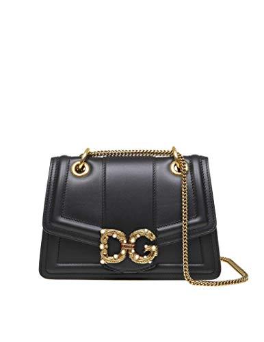 DOLCE E GABBANA Luxury Fashion Damen BB6676AK29580999 Schwarz Leder Schultertasche | Frühling Sommer 20