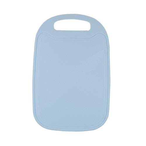 ACEHE Tabla de Cortar multifunción de PP Antideslizante Suplemento alimenticio para niños Tabla de Cortar de Frutas Creativa de plástico (Azul Claro)