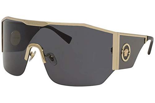 Versace Herren 0VE2220 Sonnenbrille, Gold/Dark Grey, 41/14/125