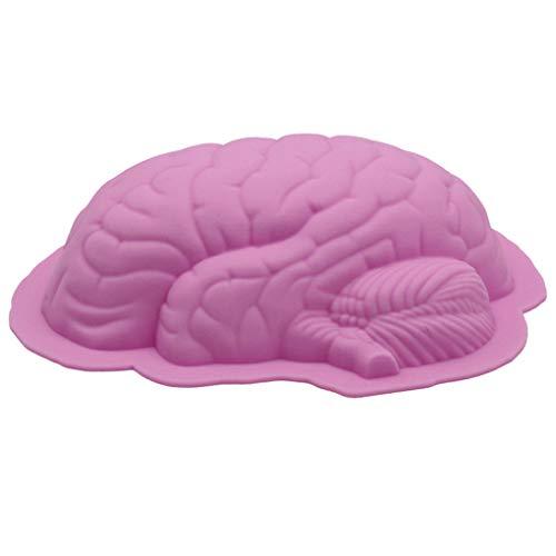 rongweiwang Menschliche Gehirn Form Pan Backen Silikon-Halloween-Kuchen-Form Backform Halloween Kuchen Pudding Jello Nachtischbrot Mold