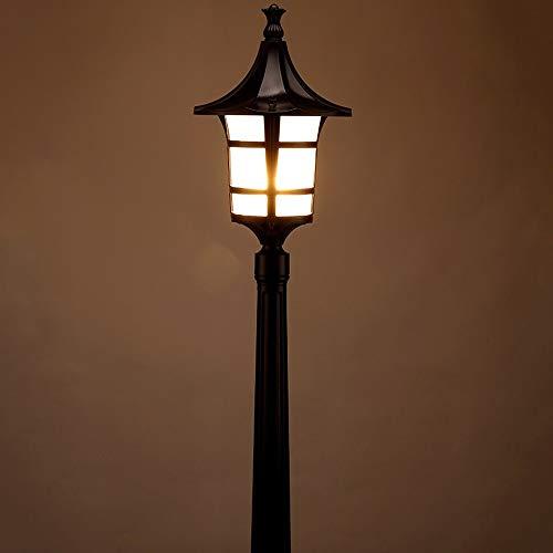 KMYX hoogpolig straatlicht terras waterdicht Duitse tafellamp E27 Tradition One-Pillar buitenlicht van de bomen lantaarn zuil Victorian Lamp