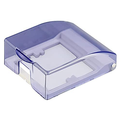 Hemoton Caja de Enchufe de Pared Transparente Interruptor de Pared Enchufe de Salida de Plástico Protector Impermeable Placa de Pared Reemplazo de La Cubierta para Home Shop