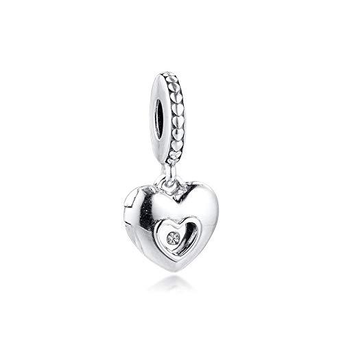 YOYNZY Se Ajustan A Las Pulseras De Pandora Originales 925 DIY Charms Heart Club Beads para Joyería Berloque