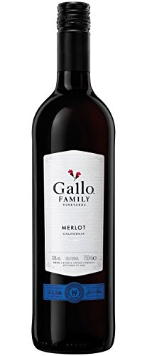 6x 0,75l - 2017er - E. & J. Gallo - Family Vineyards - Merlot - Kalifornien - Rotwein halbtrocken