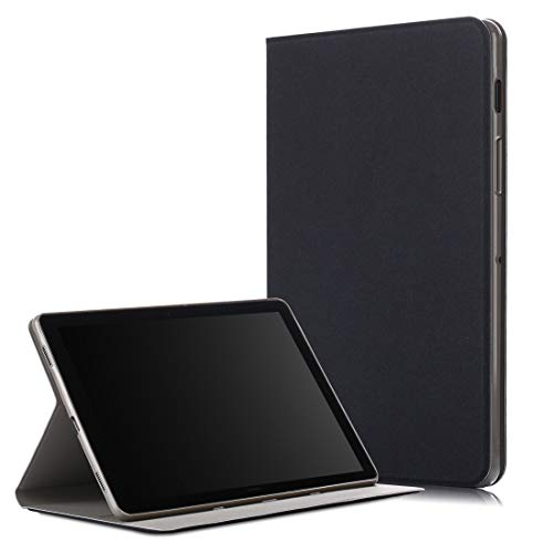 JIANWU Cover, Solid Color Horizontal Flip TPU + PU Leather Case for Galaxy Tab S5e T720 / T725, with Holder/Wake-up Function (Black) (Color : Grey)