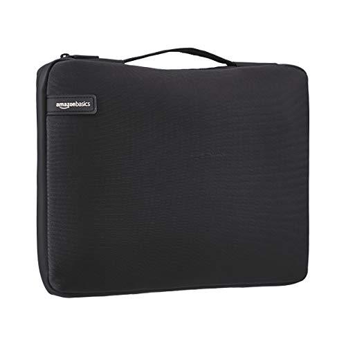 Amazon Basics - Professionelle Laptop-Hülle (mit einziehbarem Griff), für Laptops bis 39,62 cm - schwarz