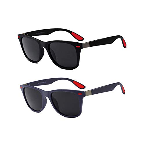Juli Classic 100% UV400 Protection HD Polarized Lens Sunglasses for Men Women 2 Pack CS-F4195