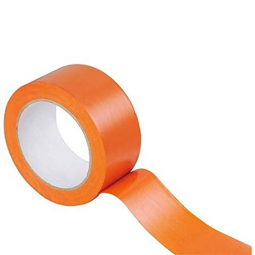 Jembal- Lot 6 rouleaux rubans adhésif PVC orange de chantier 33 m/m x 50 mètres masquage pienture, btp, bâtiment, isolant électricité