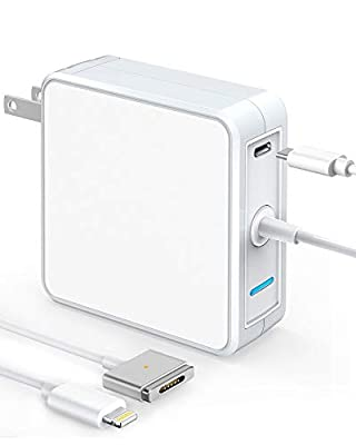 SKYGRAND Compatible with MacBook Charger,45W T-Tip Magsafe 2 Power Adapter & 18W USB C Fast Power Delivery Charger Type C PD Charger for MacBook Air 11-inch 13-inch and iPad iPhone 11 Pro Max