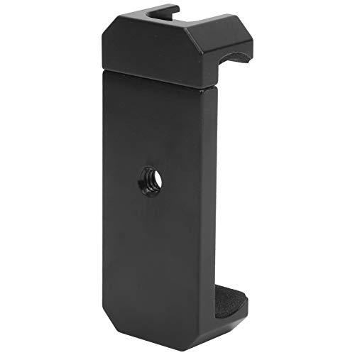 Asixxsix Soporte para teléfono móvil, Pinza para teléfono Resistente de aleación de Aluminio, con Almohadilla de protección de Esponja, Viaje para trípodes